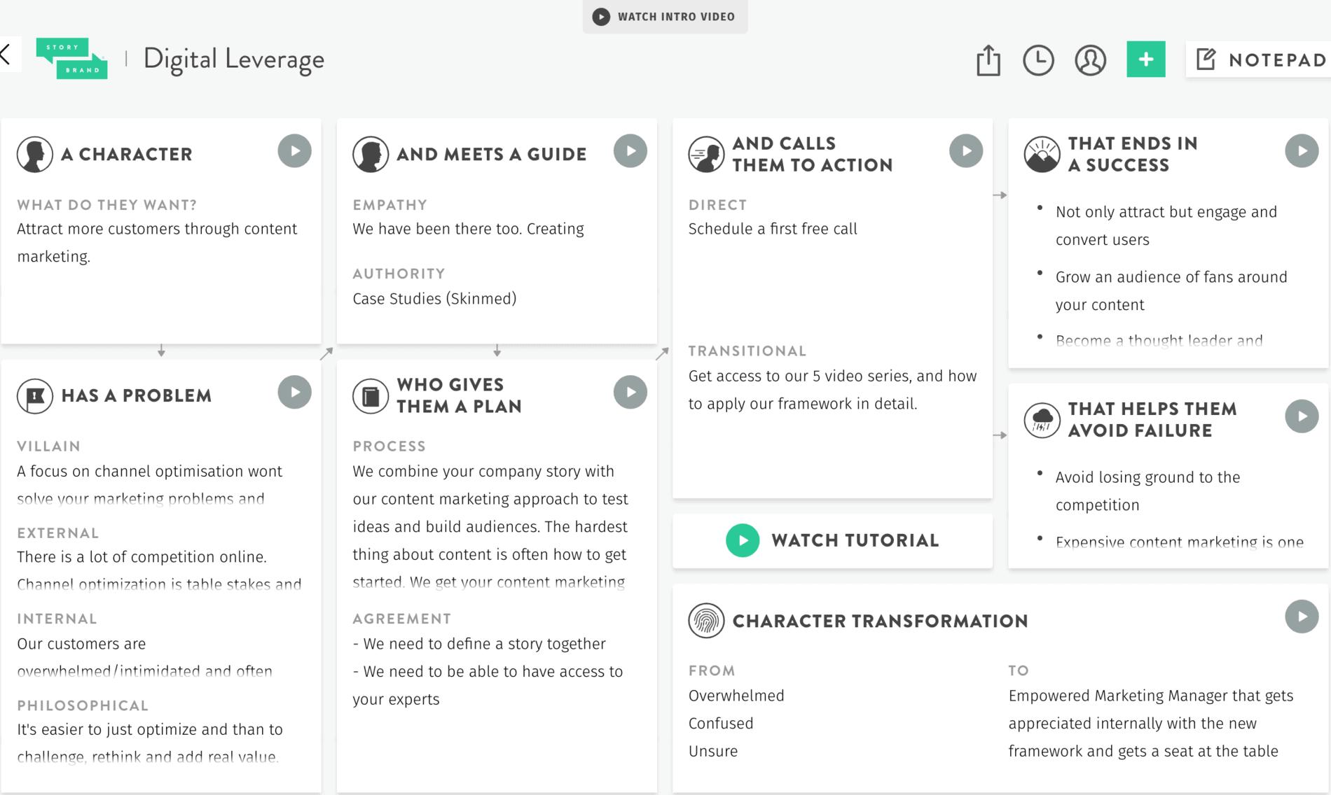 storybrand template